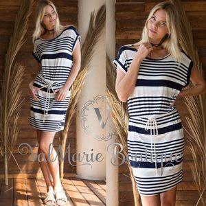 Striped summer beach dress
